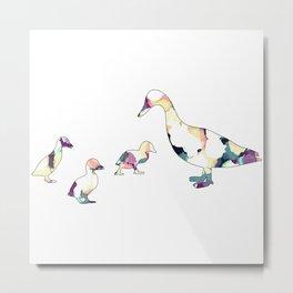 Ducks Design Metal Print