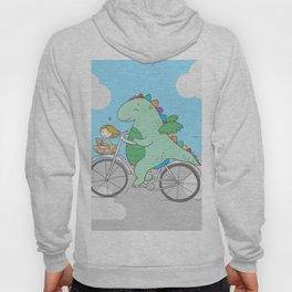 Chibi Dragon on Bicycle with Girl Hoody