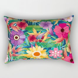 Summer Floral Dreams Rectangular Pillow