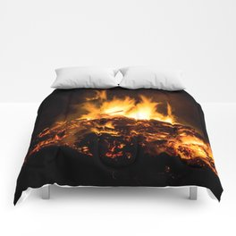 Fire flames Comforters