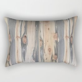 Beetle Kill Pine Wood Rectangular Pillow