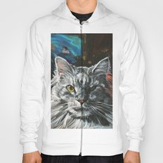 Two Faces of the Main Coon Cat Hoody