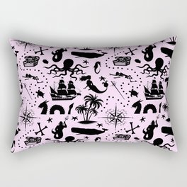 High Seas Adventure // Pink Rectangular Pillow