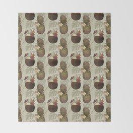 Pineapple Pina Coladas Throw Blanket