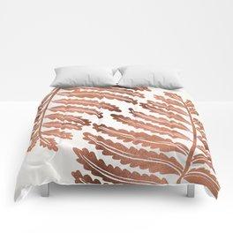 Fern Leaf – Rose Gold Palette Comforters
