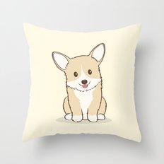 Eli the Corgi Illustration Throw Pillow