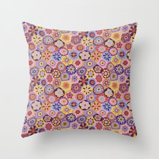 Millefiori-Sunset colorway Throw Pillow