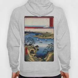 Hiroshige - 36 Views of Mount Fuji (1858) - 11: Wild Goose Hill and the Tone River Hoody