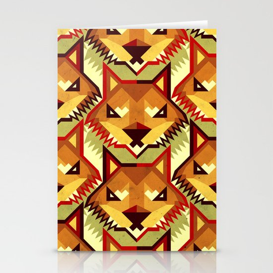 The Bold Wolf pattern Stationery Cards