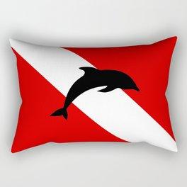Diving Flag: Dolphin Rectangular Pillow