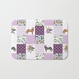 Australian Cattle Dog cheater quilt pattern dog lovers by pet friendly Bath Mat