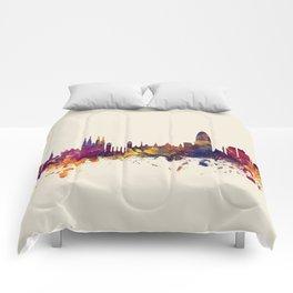 Barcelona Spain Skyline Comforters