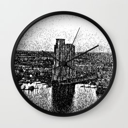 Black & White effect Baltimore City Wall Clock