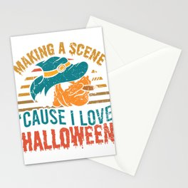 Making A Scene Cause I Love Halloween Spooky Scary Creepy T-shirt Design Witch Zombies Boo Candy Stationery Cards