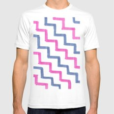 Missoni Stairs White Mens Fitted Tee MEDIUM
