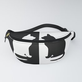Black & White Cats Fanny Pack