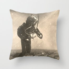 Underwater City Throw Pillow