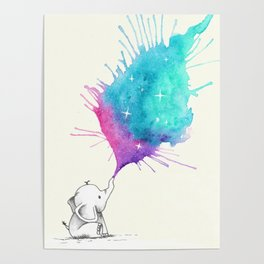 Littel Star Elephant Poster