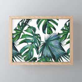 Tropical Palm Leaves Classic II Framed Mini Art Print