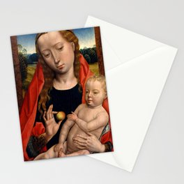 """Hans Memling """"Virgin and Child"""" (3) Stationery Cards"""