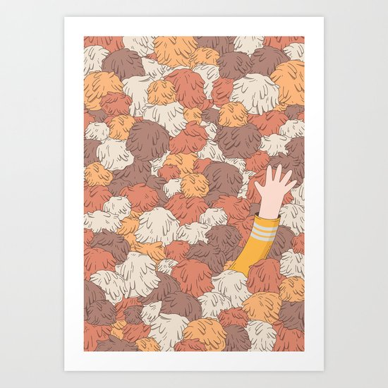 Kirk's Trouble With Tribbles (Star Trek) Art Print