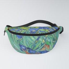 Vincent Van Gogh Irises Painting Detail Fanny Pack