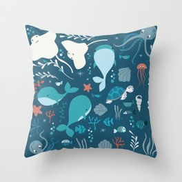 Sea creatures 004 Throw Pillow