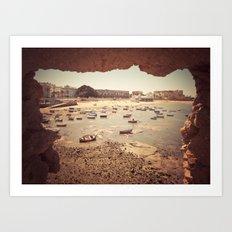 Fortress in Cadiz, Spain Art Print