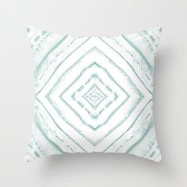 Dye Dash Diamond Sea Salt Throw Pillow