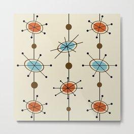 Atomic Era Satellites Metal Print