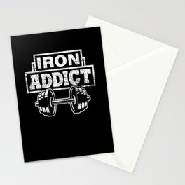 Bodybuilding Dumbbell Stationery Cards