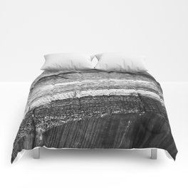 Barrels In Black & White Comforters