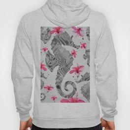 Seahorse Floral Landscape Print Hoody