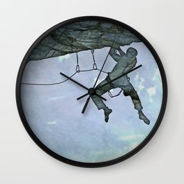 Climb On Wall Clock