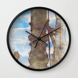 Venezia Navy Marine hoist a flag - SKETCH Wall Clock