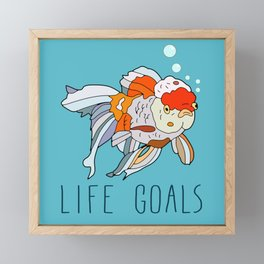Life Goals Framed Mini Art Print