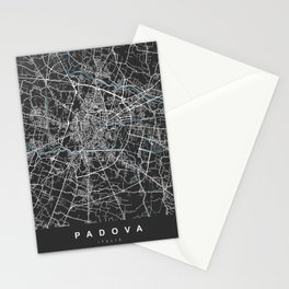PADOVA Map - Italia | Black | More Colors, Review My Collections Stationery Cards
