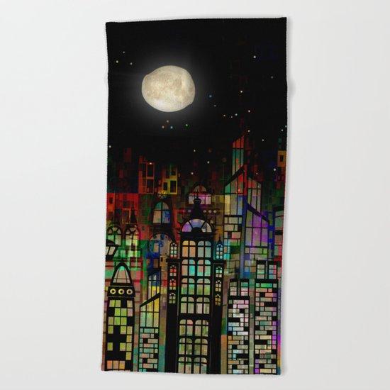 Fairytale City Beach Towel