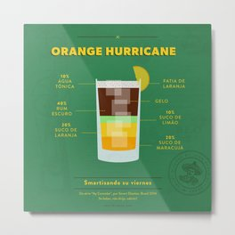 Orange Hurricane - Cocktail by Juan Metal Print