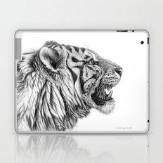 White Tiger Profile Laptop & iPad Skin