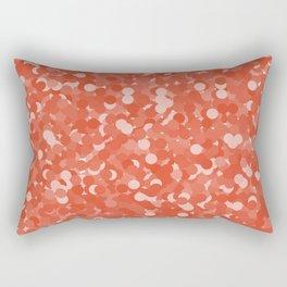 Tangerine Tango Polka Dot Bubbles Rectangular Pillow