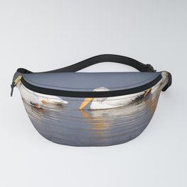 Four White Pelicans Fanny Pack