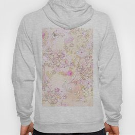 Pink lovely flower mix Hoody