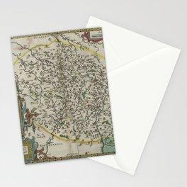 Vintage Map - Ortelius: Theatrum Orbis Terrarum (1606) - Duchy of Burgundy Stationery Cards