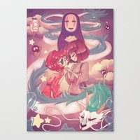 spirited away Canvas Prints featuring Spirited Away  by SweetOwls