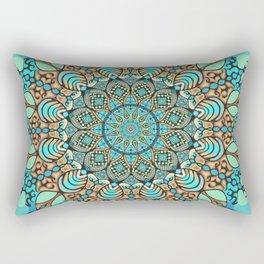 Zentangle Mandala 180218 - Bohemian Mandala Rectangular Pillow