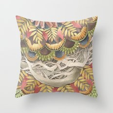 Quilted Forest: The Raccoon Throw Pillow