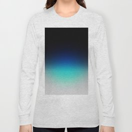 Blue Gray Black Ombre Long Sleeve T-shirt