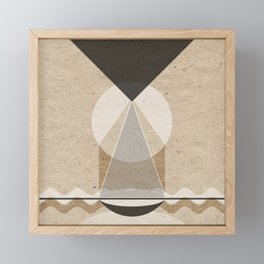 Textured beam from above Framed Mini Art Print