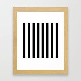 Parisian Black & White Stripes (vertical) Framed Art Print